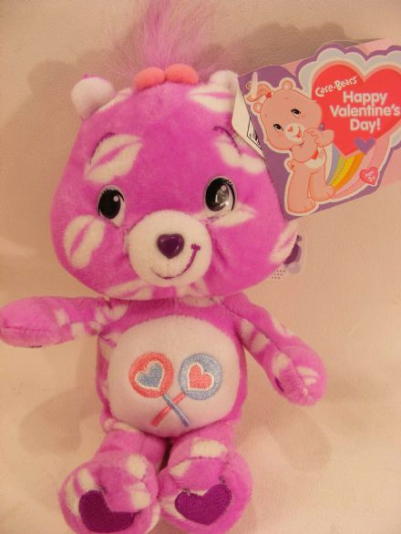 "8"" VALENTINES DAY SHARE CARE BEARS BEANIE"